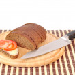Royalty-Free Stock Photo: Knife tomato bread