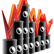 Oil price graph — Stock Photo