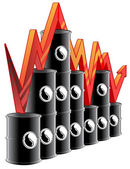 Oil price graph — Stock Photo
