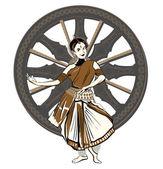 Esecutore di danza indiana — Foto Stock
