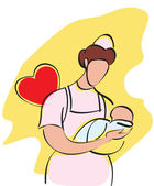 Baby nurse — Stock Photo