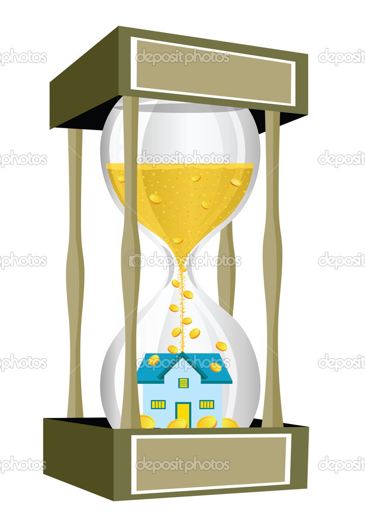 House inside a giant hourglass — Stock Photo #3939274