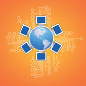 Global networking — Stock Photo