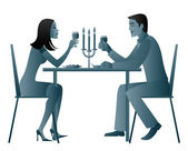 Candle light dinner — Stock Photo