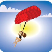 Adventure sports parachute — Stock Photo