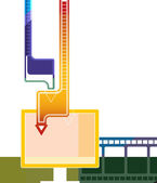 Online video downloading — Stock Photo