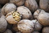 Close up walnuts — Stock Photo