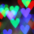 Stock Photo: Blurred valentine background