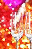 Two empty glasses on the blurred background — Stock Photo