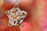 Little star decoration against blurred background — Stock Photo