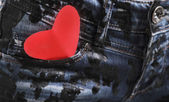 Heart in the pocket — Stock Photo