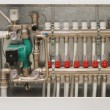Heating system of the house - Stock Photo