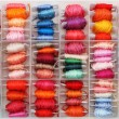 Colorful bobbins — Stock Photo