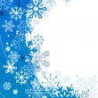 Royalty-Free Stock Vector Image: Background with contour snowflakes
