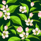 Bezešvé vzor s kvetoucí větve — Stock vektor
