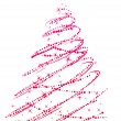 Stylized christmas tree isolated - Imagen vectorial