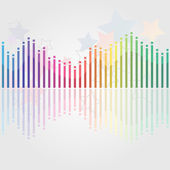 Abstract misic background — Stock Vector