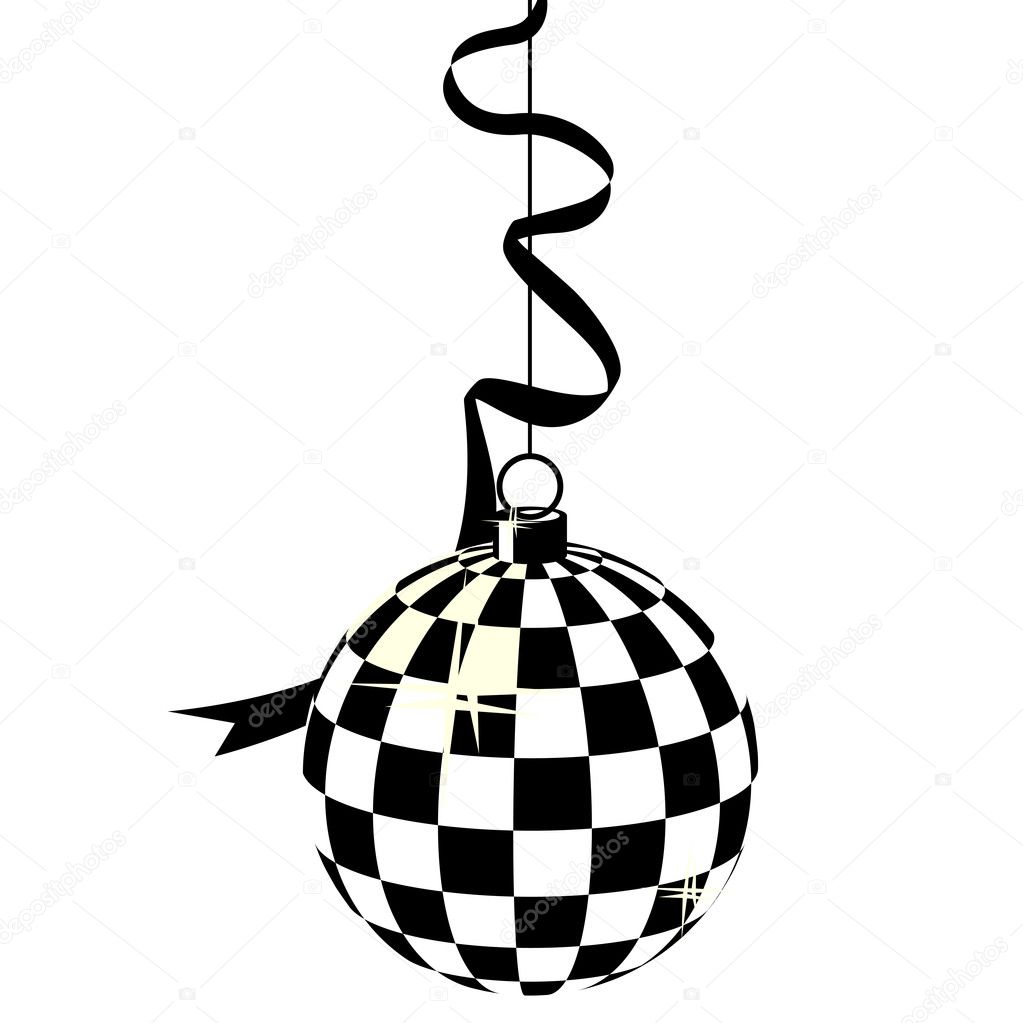 black and white mirror ball stock vector nurrka 4433461. Black Bedroom Furniture Sets. Home Design Ideas