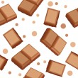 Seamless pattern with choco pieces - Stockvectorbeeld