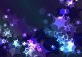 Vino espumoso festivo fondo azul brillante — Vector de stock