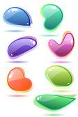 Set of glass speech bubbles — Stock Vector