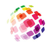 Abstract ball made of squares — Stock Vector