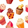 Royalty-Free Stock Vector Image: Seamless cupcake pattern