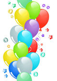 Seamless border with balloons — Stock Vector