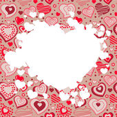 Frame with many hearts — Vettoriale Stock