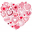 Big heart made of small ones - Stock Vector