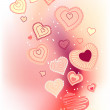 Royalty-Free Stock Vector Image: Contour hearts on pink background