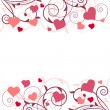 Saint valentine background with hearts — Stock Vector