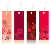 Shopping floral tags for any seasons — Stock Vector