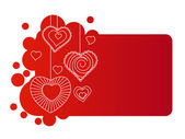 Kalpler kırmızı çerçeve — Stok Vektör