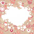 Frame with many hearts — Stock Vector
