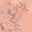 Floral background with daisies - Grafika wektorowa