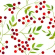 Seamless pattern with berries - Stock Vector