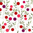Seamless pattern with berries — Stock Vector