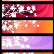 Floral spring red banners - Image vectorielle