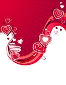 červené srdce na abstraktní pozadí — Stock vektor