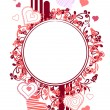 Blank frame with small hearts — Stock Vector