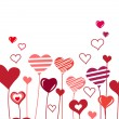 Background with growing hearts - Imagen vectorial