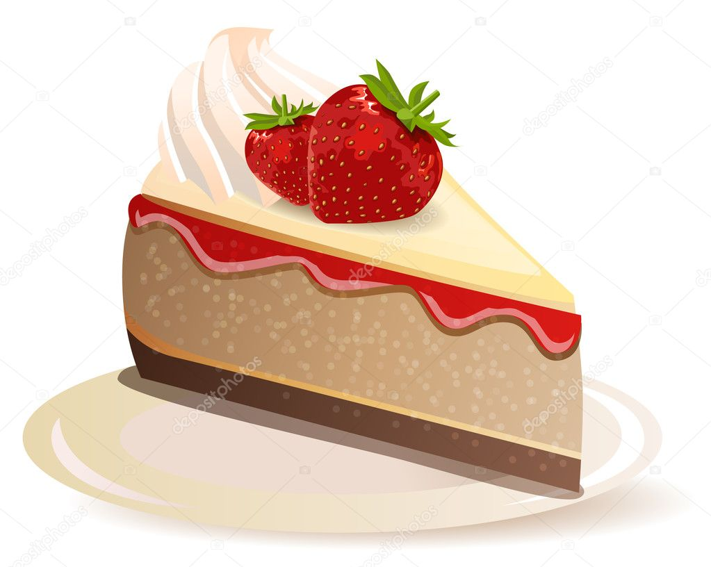 Strawberry Cake Images Download : Strawberry cake   Stock Vector ? nurrka #4712718