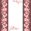 Frame with pink cherry flowers — Vector de stock