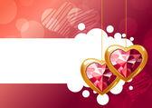 Iki asılı kalpler — Stok Vektör