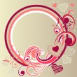 Royalty-Free Stock Imagen vectorial: Frame with hearts and swirl elements