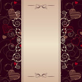 Frame with stylized hearts — Vector de stock