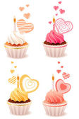 Sweet small cakes — Stock Vector