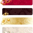 For horizontal  banners with jewels — Stock Vector