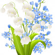 Royalty-Free Stock Vector Image: Bunch of lilies of the valley